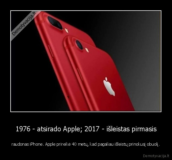 raudonas, apple, iphone