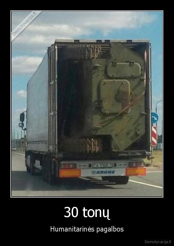 30 tonu Humanitarines pagalbos