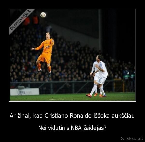 Ar zinai kad Cristiano Ronaldo issoka auksciau Nei vidutinis NBA zaidejas