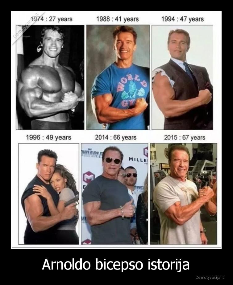 Arnoldo bicepso istorija
