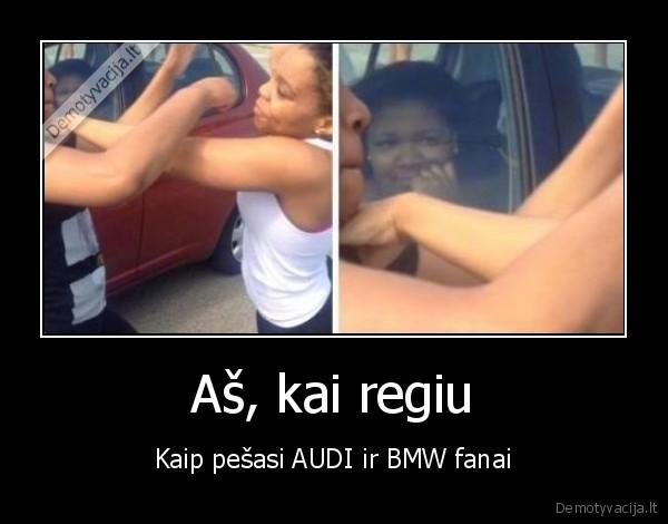 As kai regiu Kaip pesasi AUDI ir BMW fanai