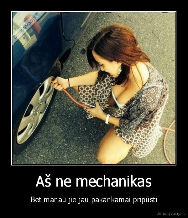 As ne mechanikas Bet manau jie jau pakankamai pripusti