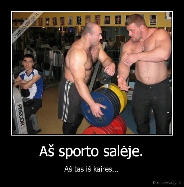 As sporto saleje. As tas is kaires