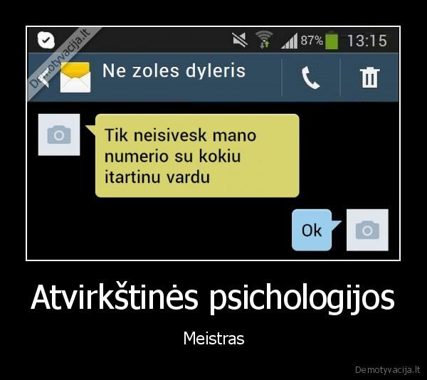 Atvirkstines psichologijos Meistras
