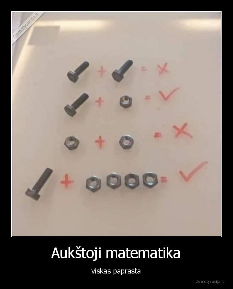 Aukstoji matematika viskas paprasta