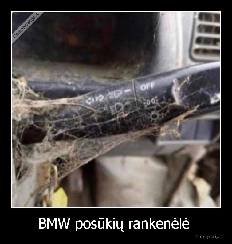 BMW posukiu rankenele