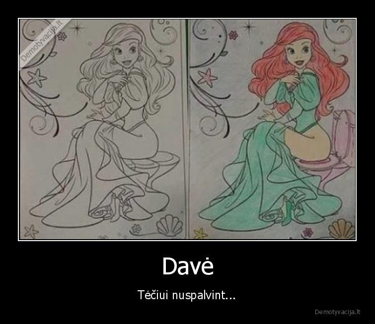 Dave Teciui nuspalvint