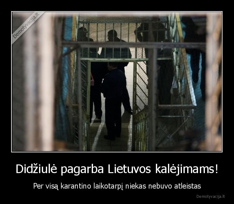 Didziule pagarba Lietuvos kalejimams Per visa karantino laikotarpi niekas nebuvo atleistas