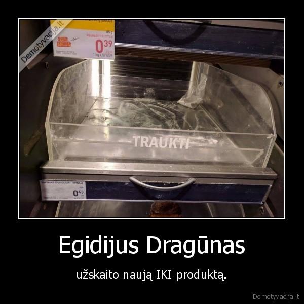 Egidijus Dragunas uzskaito nauja IKI produkta
