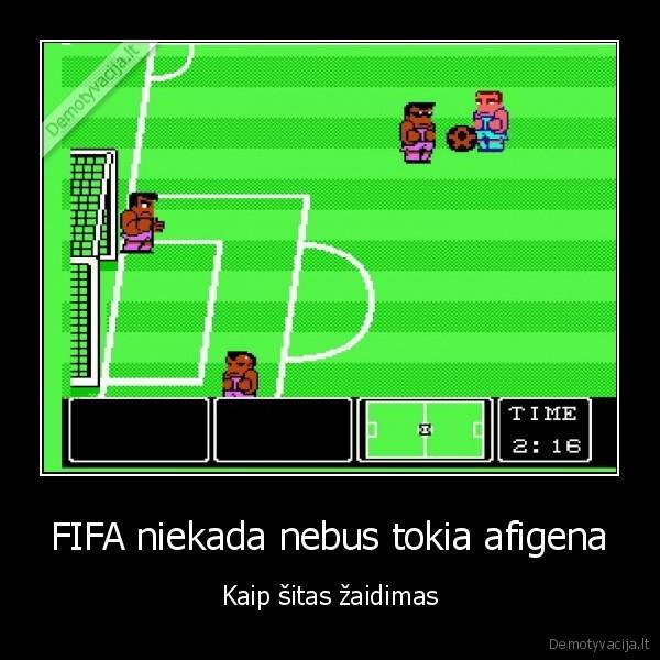 FIFA niekada nebus tokia afigena Kaip sitas zaidimas