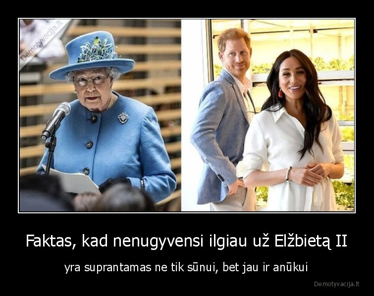 Faktas kad nenugyvensi ilgiau uz Elzbieta II yra suprantamas ne tik sunui bet jau ir anukui