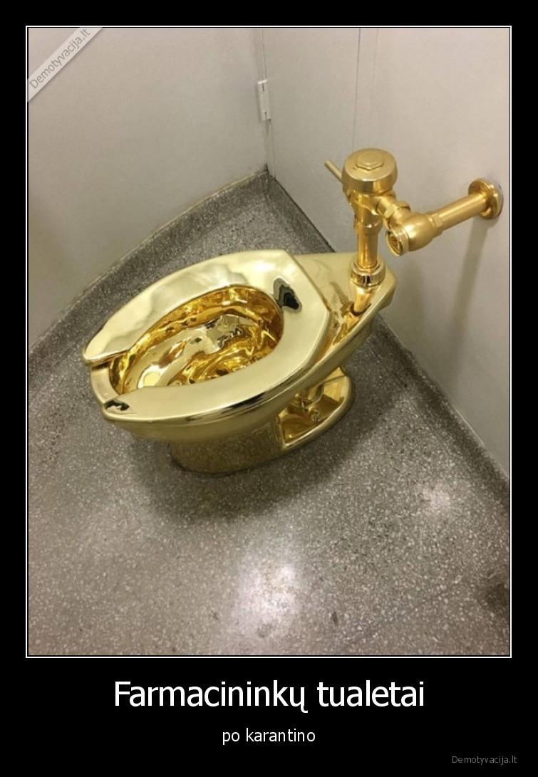 Farmacininku tualetai po karantino
