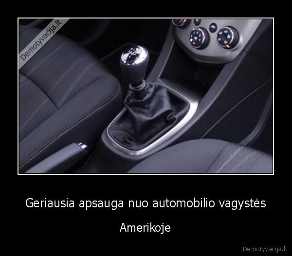 Geriausia apsauga nuo automobilio vagystes Amerikoje