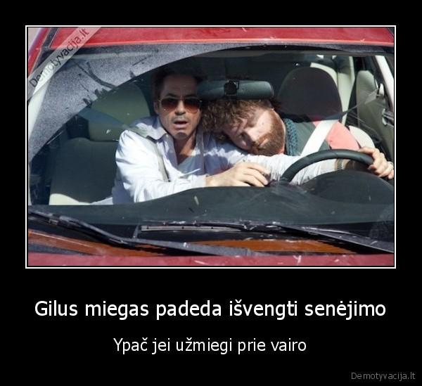 Gilus miegas padeda isvengti senejimo Ypac jei uzmiegi prie vairo