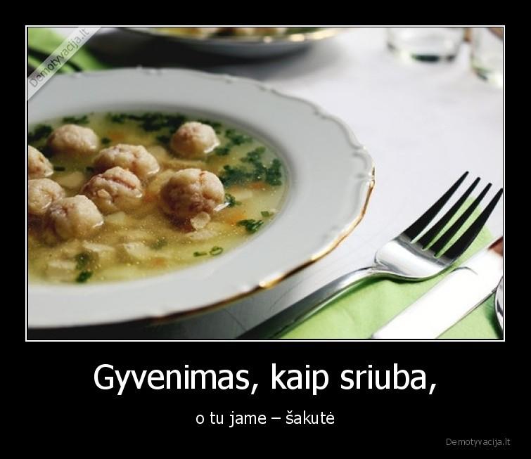 Gyvenimas kaip sriuba o tu jame sakute