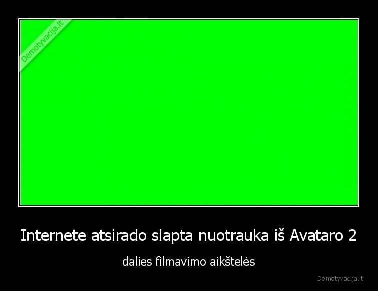 Internete atsirado slapta nuotrauka is Avataro 2 dalies filmavimo aiksteles