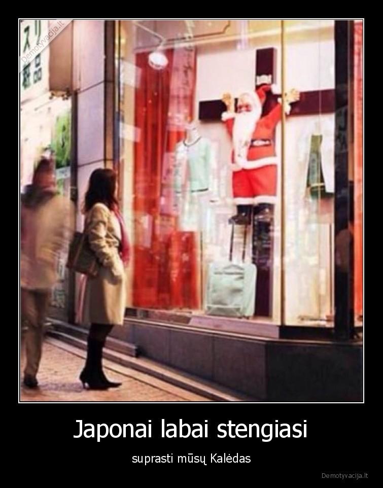 Japonai labai stengiasi suprasti musu Kaledas