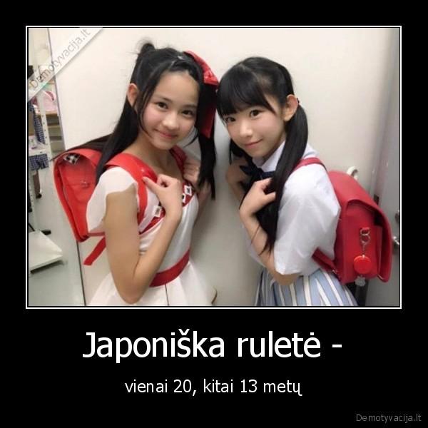 Japoniska rulete vienai 20 kitai 13 metu