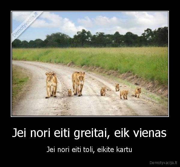 Jei nori eiti greitai eik vienas Jei nori eiti toli eikite kartu
