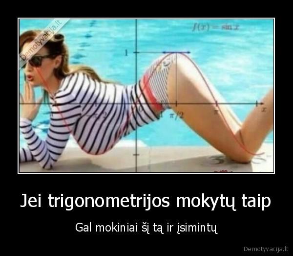 Jei trigonometrijos mokytu taip Gal mokiniai si ta ir isimintu