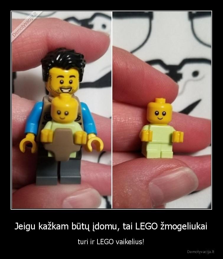 Jeigu kazkam butu idomu tai LEGO zmogeliukai turi ir LEGO vaikelius