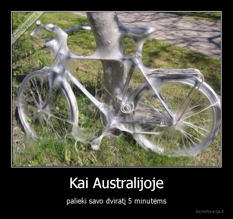Kai Australijoje palieki savo dvirati 5 minutems