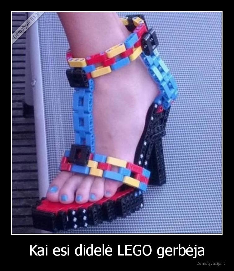 Kai esi didele LEGO gerbeja
