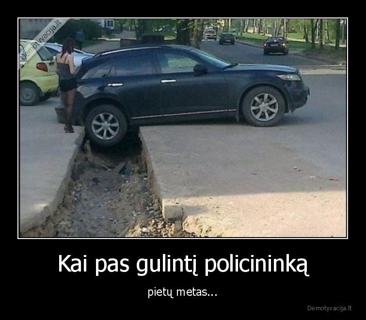 Kai pas gulinti policininka pietu metas