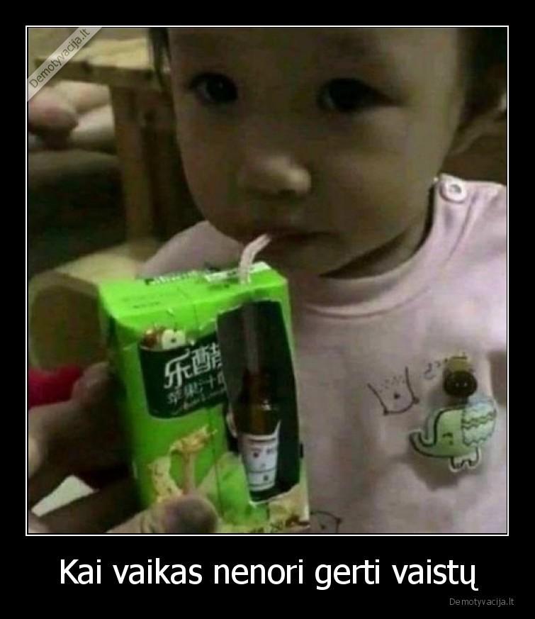 Kai vaikas nenori gerti vaistu