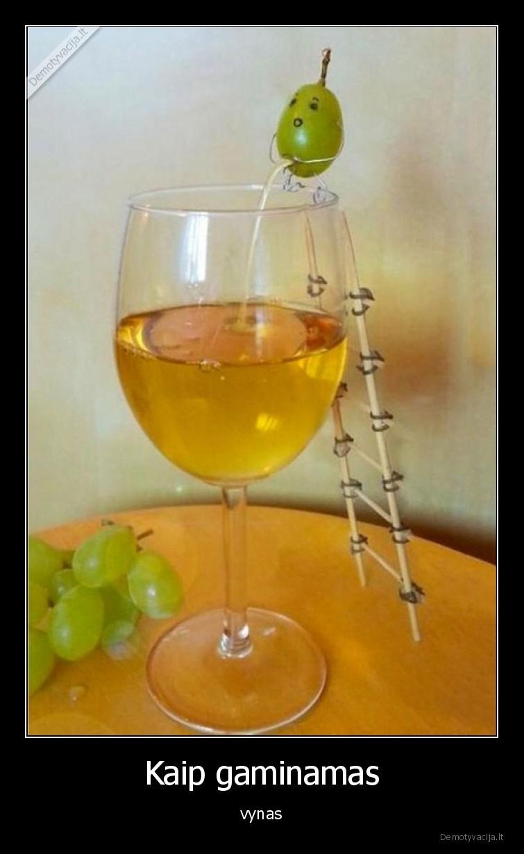 Kaip gaminamas vynas