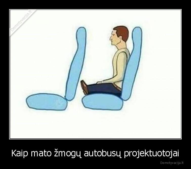 Kaip mato zmogu autobusu projektuotojai