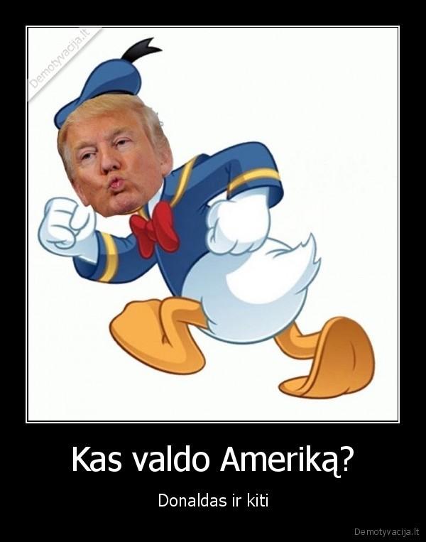 Kas valdo Amerika Donaldas ir kiti