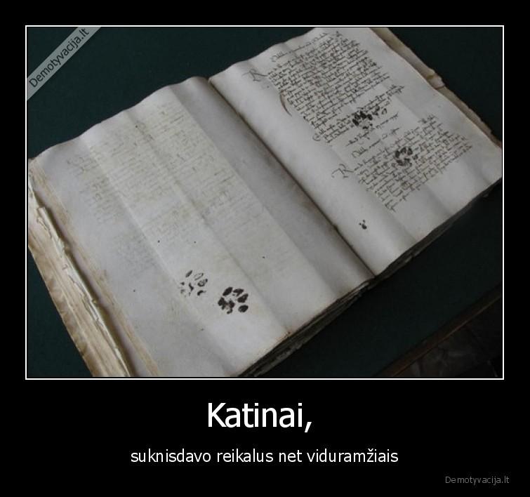 Katinai suknisdavo reikalus net viduramziais