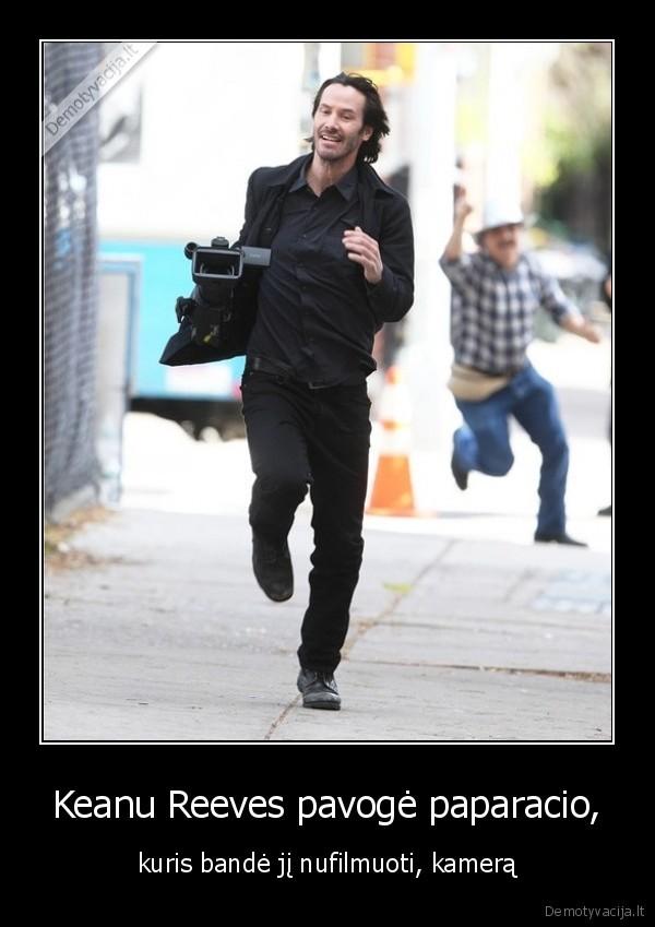 Keanu Reeves pavoge paparacio kuris bande ji nufilmuoti kamera
