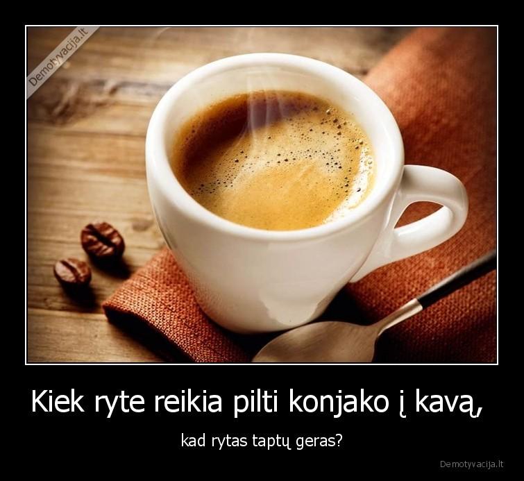 Kiek ryte reikia pilti konjako i kava kad rytas taptu geras