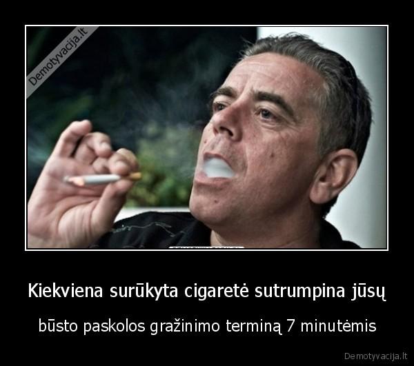 Kiekviena surukyta cigarete sutrumpina jusu busto paskolos grazinimo termina 7 minutemis