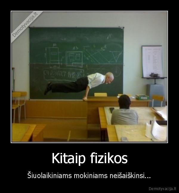 Kitaip fizikos siuolaikiniams mokiniams neisaiskinsi