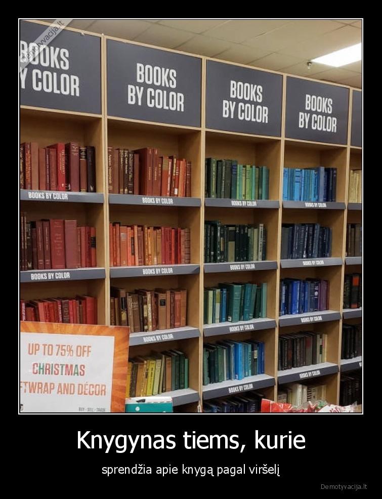 Knygynas tiems kurie sprendzia apie knyga pagal virseli