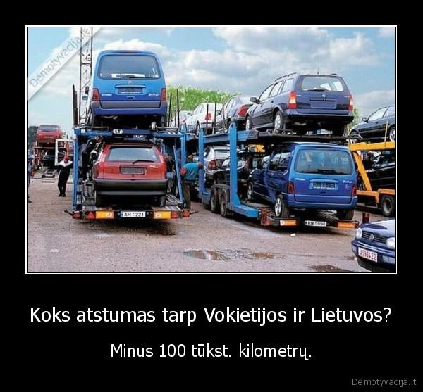 Koks atstumas tarp Vokietijos ir Lietuvos Minus 100 tukst. kilometru