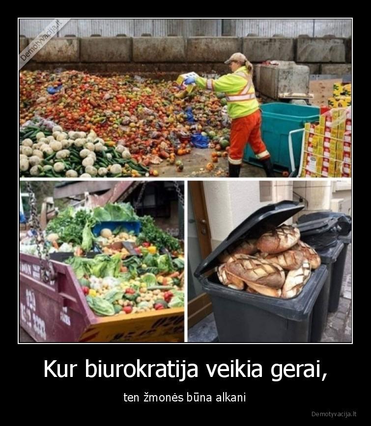 Kur biurokratija veikia gerai ten zmones buna alkani