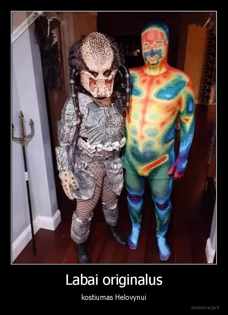 Labai originalus kostiumas Helovynui