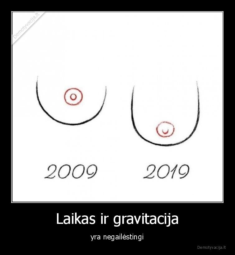 Laikas ir gravitacija yra negailestingi