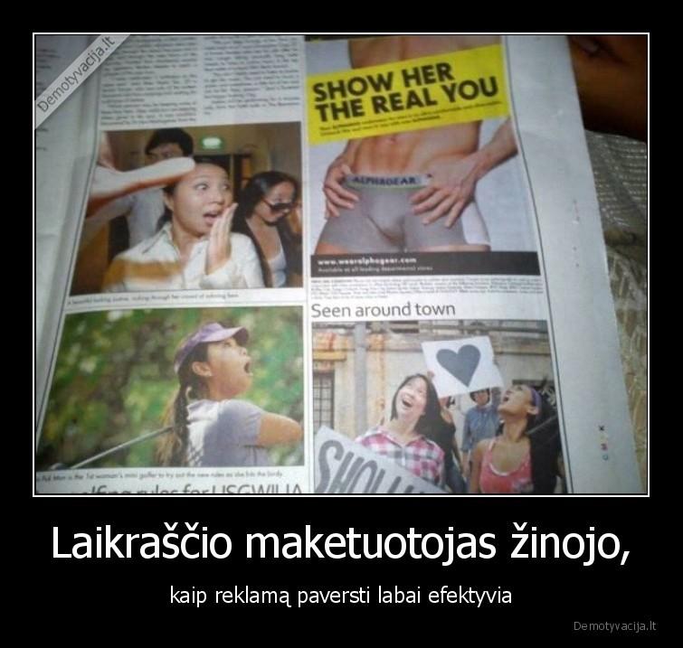 Laikrascio maketuotojas zinojo kaip reklama paversti labai efektyvia