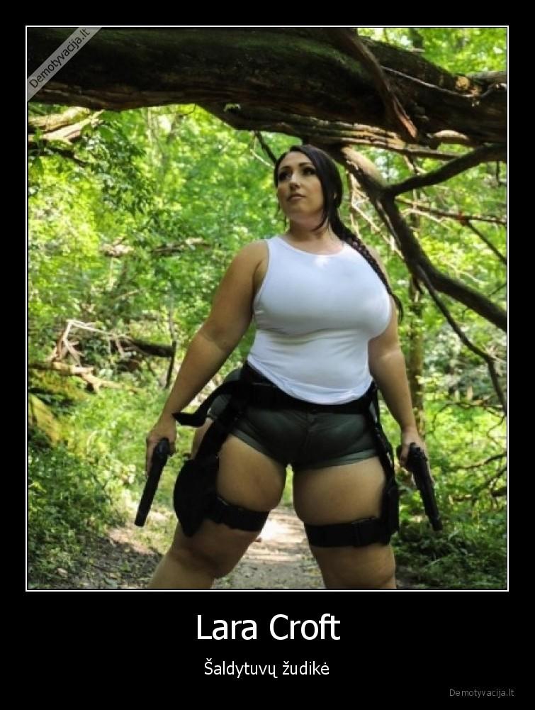 Lara Croft saldytuvu zudike