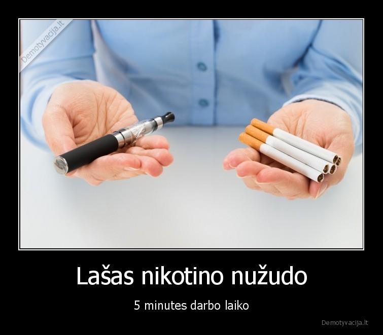 Lasas nikotino nuzudo 5 minutes darbo laiko