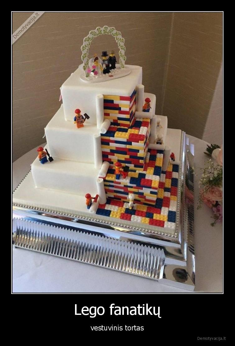 Lego fanatiku vestuvinis tortas