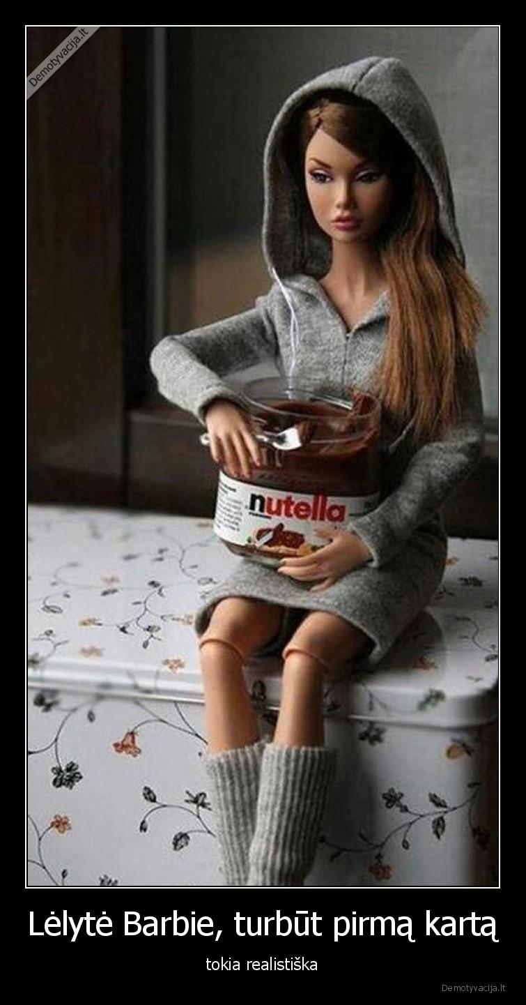 Lelyte Barbie turbut pirma karta tokia realistiska