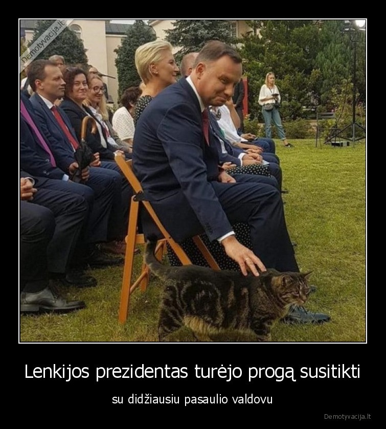 Lenkijos prezidentas turejo proga susitikti su didziausiu pasaulio valdovu