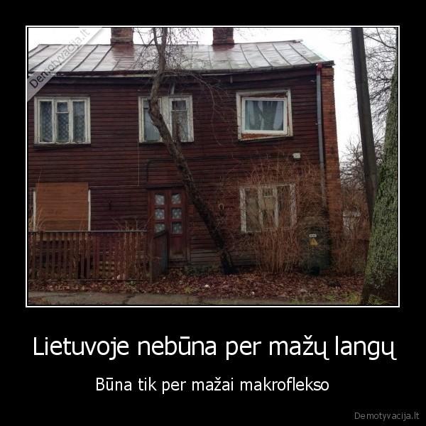 Lietuvoje nebuna per mazu langu Buna tik per mazai makroflekso