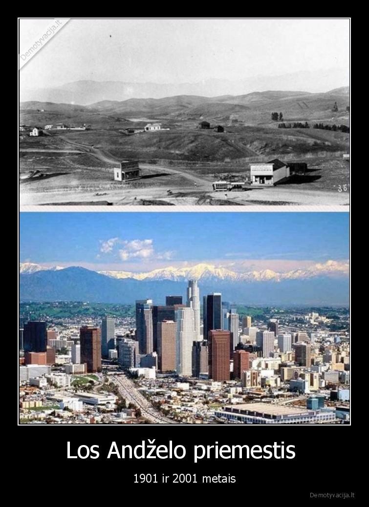 Los Andzelo priemestis 1901 ir 2001 metais